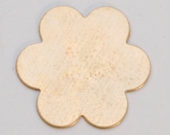 """Brass Blanks 6 Petal Flower 7/8"""" 24ga Pkg Of 6"""