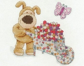 Boofle Gardening Cross Stitch Kit - DMC