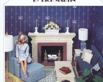 Fashion Doll Living Room Plastic Canvas Cross Stitch Chart/Pattern - Dick Martin