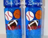 Kids Water Bottle - Multi Sports - Personalized - Basketball - Baseball - Football