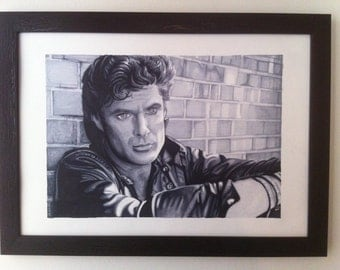 Original - David Hasselhoff The Hoff Marker Drawing by Coral Briglia