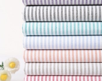 100% Cotton Stripes Fabric Stripes Cotton- Blue Red Black Green Purple Pink Brown Stripes Cotton Fabric 1/2 yard