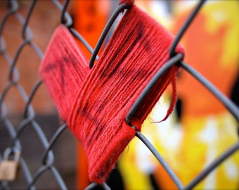 Thread Heart, Shoreditch. Photography print.