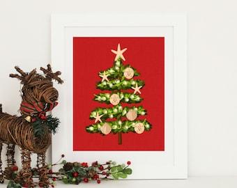 Christmas Decor -  Christmas at the Beach  - Nautical Christmas Tree