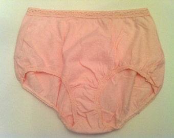 High Waisted Panties, Vintage Panty, Women's Vintage Underwear, Pink Vintage Panties, Cotton Lingerie, FREE SHIPPING