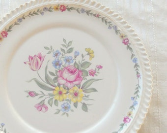 Harker Royal Gadroon Bouquet Dinner Plate, Vintage, Wedding, Cake Plate