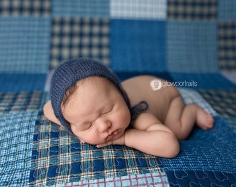 Newborn mohair bonnet Newborn photography hat Baby hat Baby bonnet Classic bonnet Newborn photography props Brown Gray White