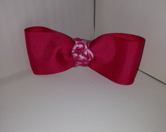 Pink and Damask Bow
