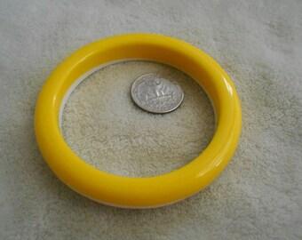 Vintage Bracelet-Sunshine Yellow & White Bangle