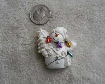 Vtg Pin-Christmas Snowman-P3815