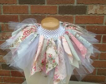 Fabric Tutu/ Vintage tea party lace/ Shabby Chic Tutu/ Baby Tutu/ Photo Prop Tutu/ Childrens Toddler Infant Tutu/, Birthday