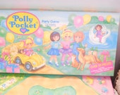 The Polly Pocket Party Game Rose Art  :)  NOT INCLUDED In Any Coupon Discount Sales
