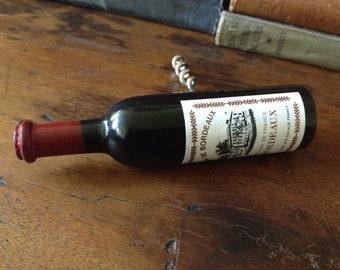 French Wine Bottle Corkscrew Vin de Bordeaux Bottle Opener French Advertisement
