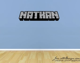 Gaming Wall Decal, name wall decal, Video game Theme Stickers, Gaming Wall Art