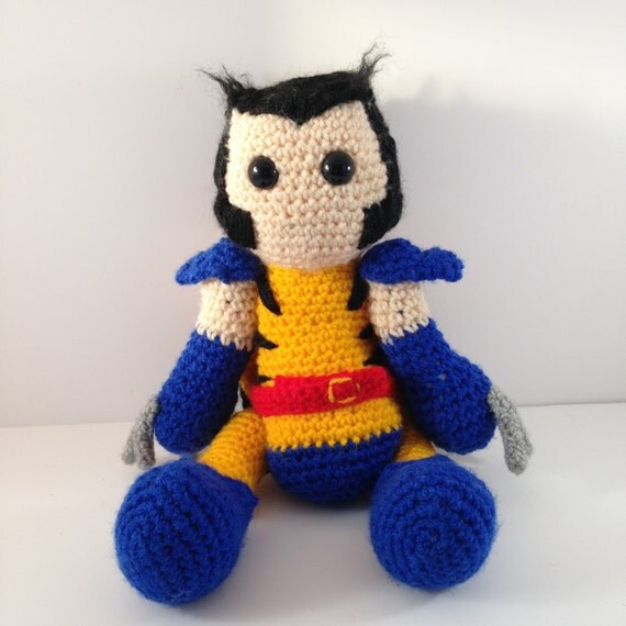 Amigurumi Askina Etsy : Items similar to Wolverine crochet amigurumi doll on Etsy