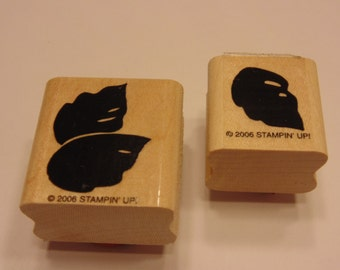 STAMPING UP 2 piece leaf stamp set, (A11)