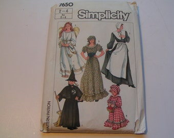 Vintage Simplicity Pattern Costume 7650