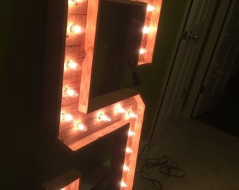 4ftH Lighted Pallet Marquee Letters A-Z