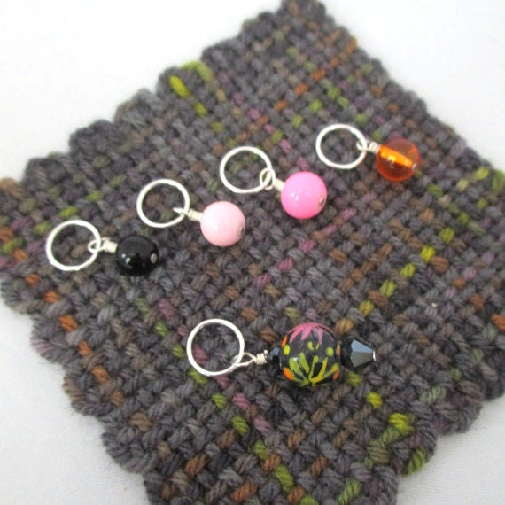 Using Stitch Markers In Knitting : Stitch markers knitting stitch markers set of 5 fireworks