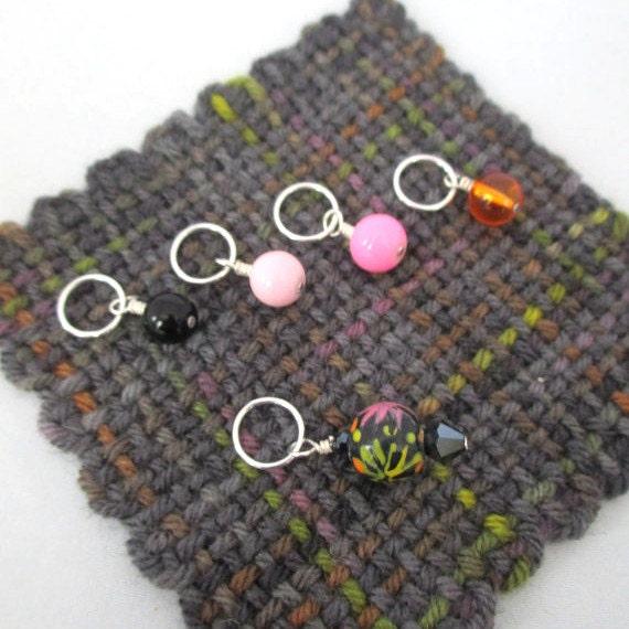 Knitting Lifeline With Stitch Markers : Stitch markers knitting stitch markers set of 5 fireworks