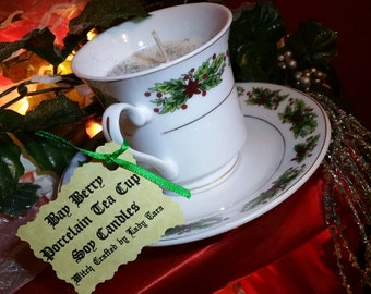 BayBerry Soy Porcelain Tea Cup Candle