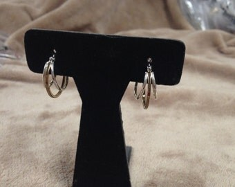 Vintage Silvertone and Goldtone Hoop Earrings
