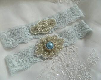 Garter Set - Customizable lace Garter, Crystal Garters, Bridal Garter, Rhinestone Garter,  Prom, Wedding