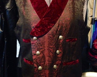 Garnet Steampunk Men's Vest