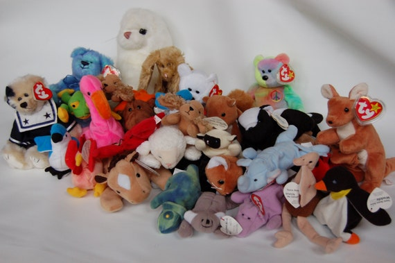 vintage beanie baby collection before 1996 beanie babies 30 pc. Black Bedroom Furniture Sets. Home Design Ideas