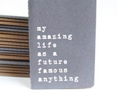 Funny Christmas present: Grey MOLESKINE® notebook for all the celebrity obsessed, future XFactor contestants and potential reality stars.