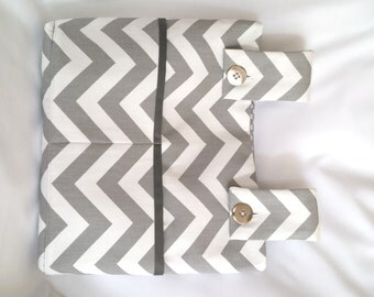 Grey Chevron Walker Bag