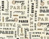 SALE--PARIS PANACHE--Studio Frivolite--Robert Kaufman--Cream--price is per yard