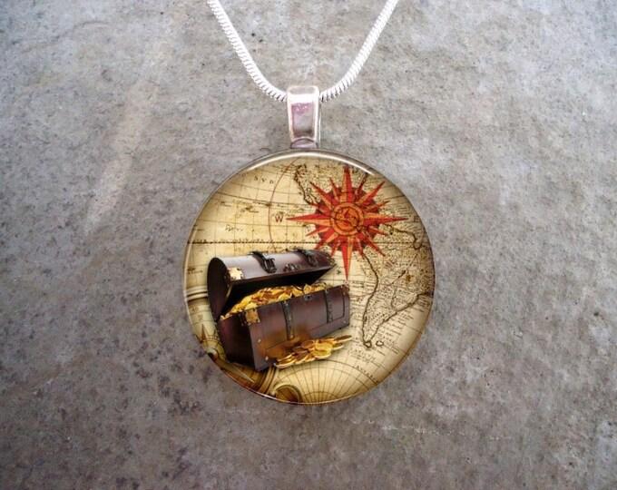 Pirate Jewelry - Glass Pendant Necklace - Pirate 1 - RETIRING 2017