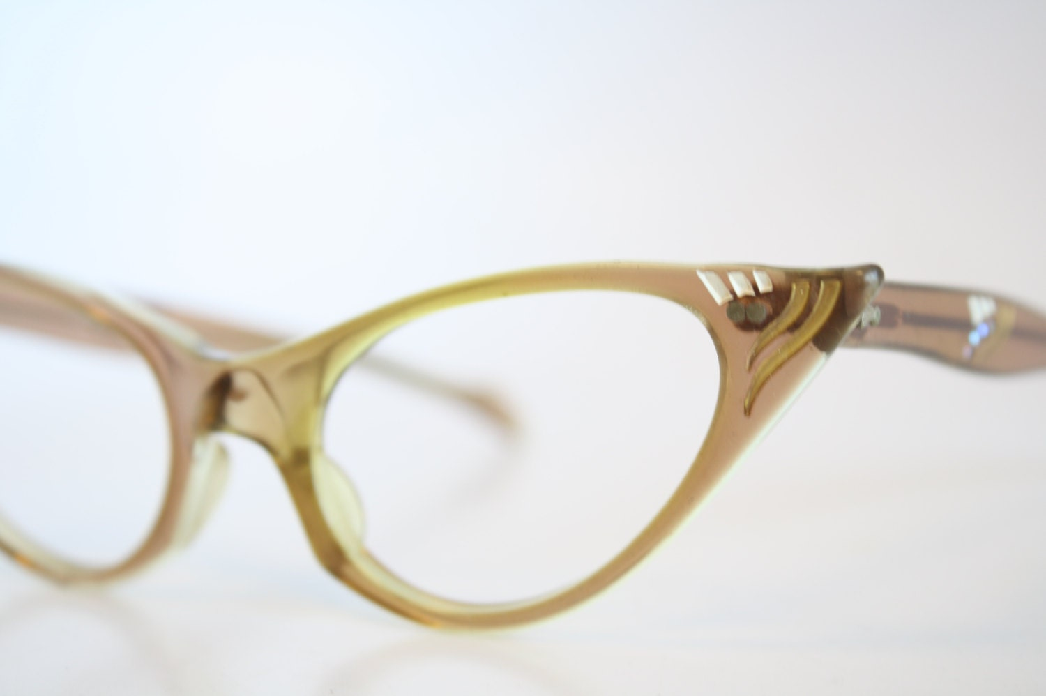 Glasses Frame Discoloration : Unique Pointy Cat Eye Eyeglasses Vintage Eyewear by ...