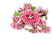 Fabric Flower Brooch, Upcycled 1950s Ladies Hankie, Original Textile Fiber Fabric Pin, Hair Clip, Mothers Day Corsage itsyourcountryspirit