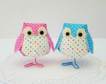 Fabric Owl Set