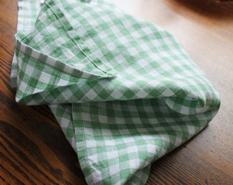 Pure Linen Napkin Set of 6 SHIPPING WORLDWIDE  handmade Squares Checkered Lunchbox napkins Gingham Table linen R110
