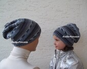 Slouchy hat, knitting father-son beanies, mens slouchy beret, slouchy hat, mother-daughter hat, gift for fathers, gift for new dads