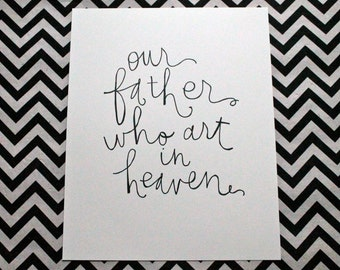 "prayer inspiration {our father} 8x10"" art print"