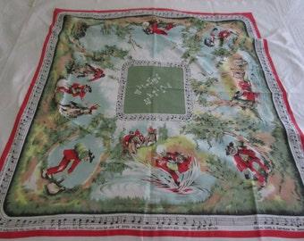Vintage Waltzing Matilda tablecloth by Textile Arts