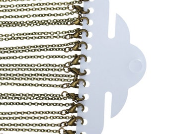 Wholesale 12 of 24 inch antique bronze necklace chain-7394B