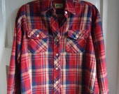 Vintage 70s REI Womens Cotton Flannel Plaid Shirt sz XS