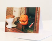 Pumpkin Hygiene Halloween Card