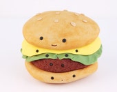 Hamburger Print by Cuddles and Rage