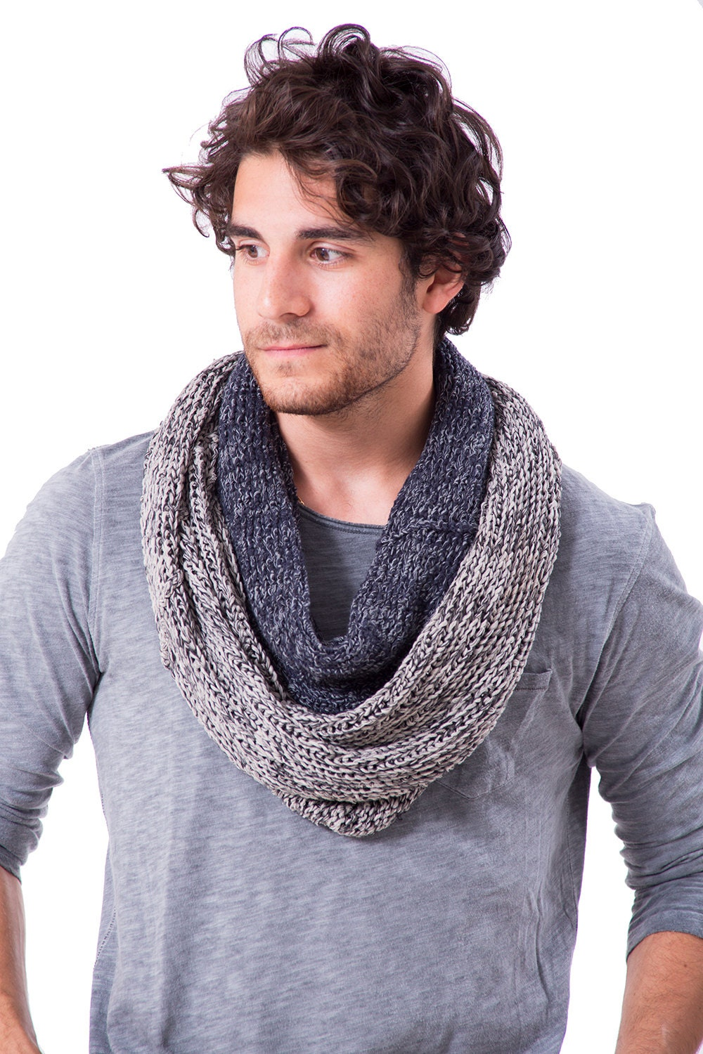 Scarfs Men Scarf And Casual On Pinterest Nice Scarves: Men Scarf Men's Infinity Scarf Knitting Men's By TOOSHAAYA