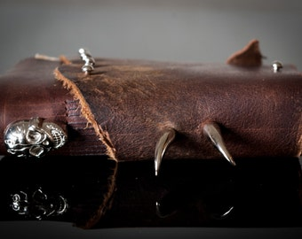 Genuine Leather Gothic Notebook