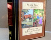 Black Beauty by Anna Sewell, and Rebecca of Sunnybrook Farm by Kate Douglas Wiggen full color hardcover with illustrations, childrens story
