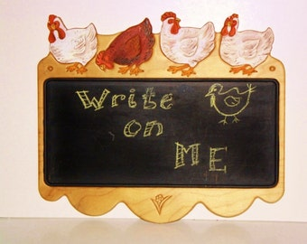 Chicken Chalk Board Menu Board Country Kitchen Hen Design