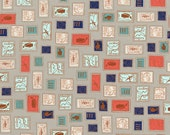 SALE - HOMEBODY by Kimberly Kight for Cotton + Steel - Philately (Light Gray, 3003-002) - 1 Yard - Quilting Weight Cotton Fabric