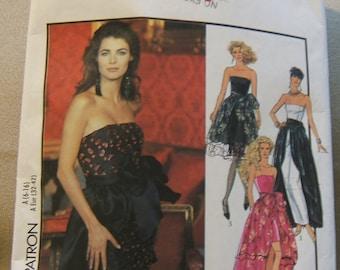 Style 1978 size cut to size 6, womens layered evening dress